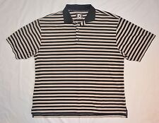 FootJoy Mens Golf Polo Shirt Size Xxl 2Xl Black Beige Striped