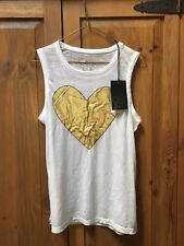 CHASER Gold Heart tanks top size small NWT Rare!