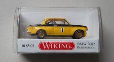 YELLOW RACING 1968 BMW 2002 WIKING 1/87 Plastic Miniature Car HO Scale Plastic