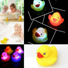 LOT 5X LED Flashing Light Rubber Floating Duck With Bath Tub Shower Toy For Kids