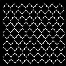 POCHOIR ORNEMENT FORMES DESIGN DECO SCRAPBOOKING 15X15CM. STENCIL ORNAMENT FORM