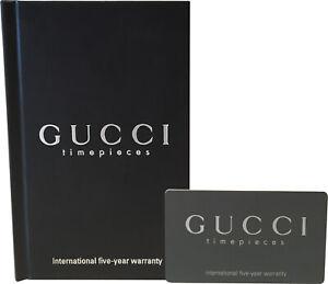 Gucci Watch 5-Year Warranty Guarantee Certificate Card & Booklet