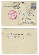 1936 Zeppelinkarte Olympiafahrt Frankfurt - Berlin