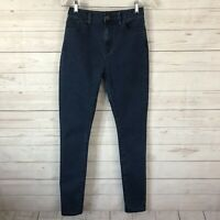 BDG Womens High Rise Twig Ankle Stretch Jeans Size 26 Long Dark Blue Wash