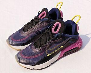 Nike W Air Max 2090 Blue/Chrome Yellow-Black CK2612-400 Women's Size 6.5