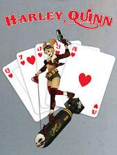 DC COMICS-HARLEY QUINN-CARD-pronte incorniciato tela 60x80cm