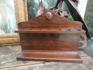Antique Oak Wooden Pipe Stand Holder or  Rack From Devon Farm Un used & Polished