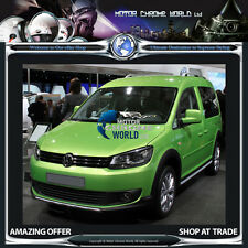 VW CADDY OEM TYPE ALUMINIUM 2x ROOF RAILS BARS SET NON-DRILL 2010+Up SWB NEW