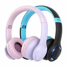 2 Pack Mpow Kids Bluetooth 5.0 Headphone Wireless Foldable LED Headset Earphone