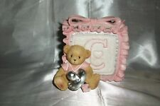 2003 Cherished Teddies Pink Baby Block Music Box #114244 Girl Pacifier