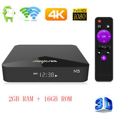 Magicsee N5 Android Tv OS Tv-Box 2GB+16GB 2.4G+5G Wi-Fi 100Mbps BT4.1 H.265 Gb