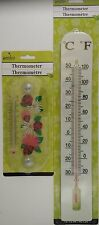 Garden Thermometers Classic Red Alcohol Select: 8-Inch or 15.75-Inch Thermometer