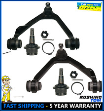 Front Suspension Kit of 2 Upper Control Arms and 2 Lower Ball Joints 4WD 4 Piece