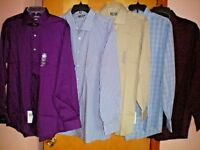 NWT NEW mens VAN HEUSEN l/s flex collar stretch regular fit dress shirt $55