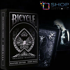BICYCLE SHADOW MASTERS BLACK ELLUSIONIST PLAYING CARDS DECK MAGIC TRICKS NEW