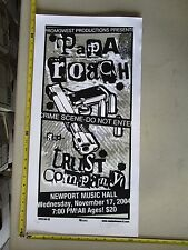2004 Rock Roll Concert Poster Papa Roach Trust Co Mike Martin S/N LE # 100