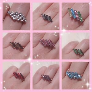Adjustable Irregula Women Ladies Girls Resizable Diamante Finger Ring Party Gift