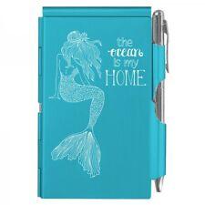 #2267 MERMAID - THE OCEAN IS MY HOME Wellspring Flip Note w/Pen Blue