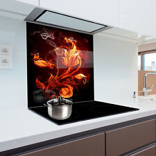 Kitchen Glass Splashback Heat Resistant Toughened Glass 70x75cm
