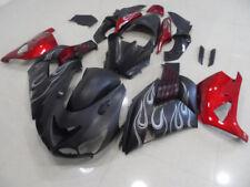Fairing Kit For Kawasaki Ninja ZX14R 2006-11 Injection Bodywork Matte Black Red