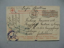 ITALY, censored Red Cross PW card to Germany 1918