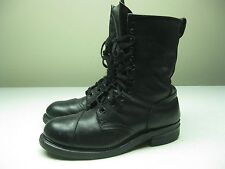 1991 VINTAGE LACE UP BUILTRITE STEEL TOE MOTORCYCLE BLACK LEATHER WORK BOOT 11W