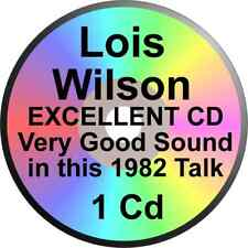 LOIS WILSON HER ALANON STORY CD 1982 WIFE OF ALCOHOLICS ANONYMOUS BILL W AFG