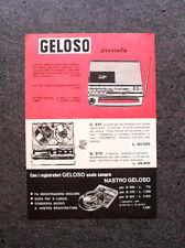 K618-Advertising Pubblicità-1969- GELOSO G 19/153 RADIOREGISTRATORE A CASSETTE