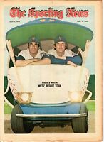 Sporting News 7/1 1972,Baseball, Danny Frisella & Tug McGraw, New York Mets ~ Gd