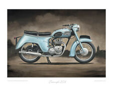 Motorcycle Limited Edition Print - Triumph 3TA - Classic Bike Poster Steve Dunn
