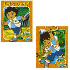 GO DIEGO GO! 8 INVITATIONS & THANK YOU CARDS Birthday Party Boys Children NEW