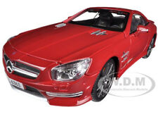2012 MERCEDES SL 63 AMG RED 1/18 DIECAST MODEL CAR BY MAISTO 36199
