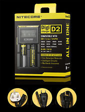 Nitecore D2 LCD Digicharger For 26650 18650 14500 18350 16340 AA Battery ChargeR