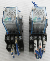 (2) Omron MY4N-D2-J Relay 24VDC 3A with SY4S-05DN Socket 250V 6A