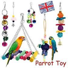 6Pcs/Set Beaks Metal Rope Small Parrot Toys Budgie Cockatiel Cage Bird Toys UK