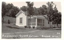 Beulah Michigan~RPPC Pennington Garden Cottage~1941 RPPC