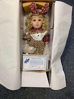 Künstlerpuppe Porzellan Puppe 70 cm. Ovp & Zertifikat. Top Zustand