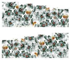 NAIL Art Decalcomanie Transfers Adesivi Farfalle Fiori d'acciaio (A-165)