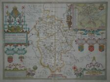 Original JOHN SPEED map of BEDFORDSHIRE  1676