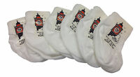 SOCKS UK baby Clothing. 6 pairs of turn down top ankle socks boys girls colours.
