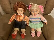 Vintage Corky & Cricket 1986 Playmates Dolls With Cassettes