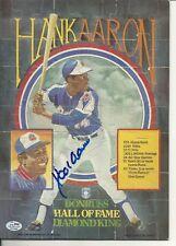 Hank Aaron HOF autograph SGC Donruss Puzzle Braves FREE SHIPPING
