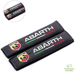Coppia Copricintura Sicurezza per Abarth 500 595 695 124 Copri Cinture Sicurezza