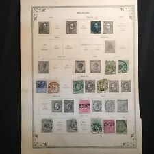 1866-1887 Belgium Postage Stamps, Used, Lot of 30