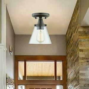 WISBEAM Semi Flush Mount Ceiling Light Fixture 80392-05r 2 Pack