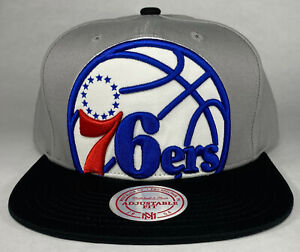 Mitchell and Ness NBA Philadelphia 76ers Extra Large Logo 2-Tone Snapback Hat
