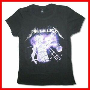 Metallica Purple Justice Juniors Girls Black T Shirt New