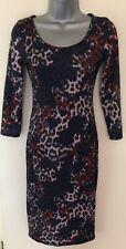 Miso Animal Print Knee Length Sheath Dress Size 8
