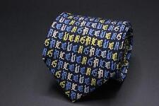 GIANNI VERSACE Silk Tie. Crossword Design VERSACE. Made in Italy.