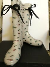 Marc Jacobs Rain Boots Birds White Size 37 NWB